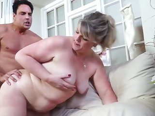 real mature mom takes young cock