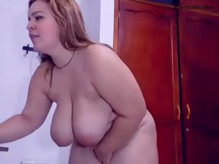 horny bbw masturbating toying fingering