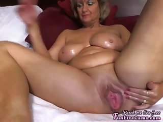 fucking hot mom masturbating really hard