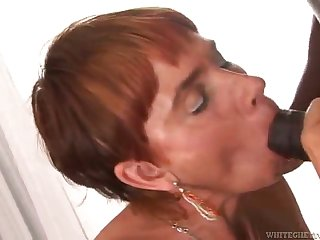interracial sex with the horny redhead joss lescaf