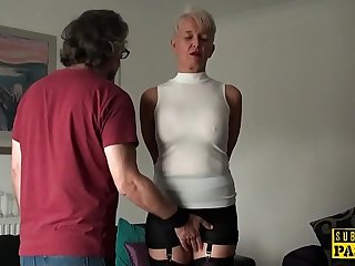 Busty brit toughly fucked in her mature cunt