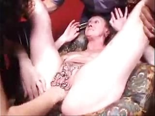Ugly mature slut fisted untill she cums