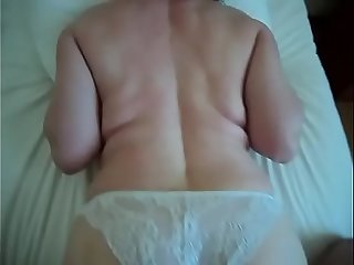 Real lovely mature mom wifey hidden cam homemade ass cum son-in-law spy amateur milf POV cam