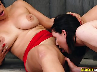 Mature Obese Dyke Enforces Hetero Girl To Eat Her Cunt