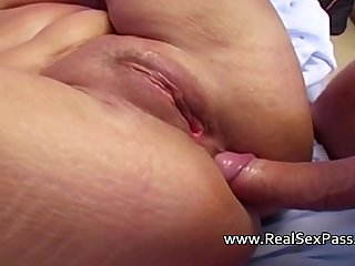 Mature lady pulverized hard including ass-fuck