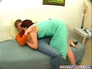 Russian mature cougar get facial