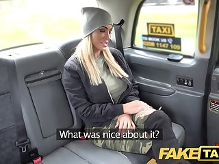 Fake Taxi Mature busty milf licks arse and empties enormous ballsack