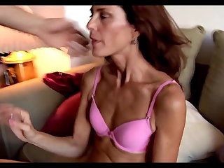 Disgusting sex with very bony mature pussy