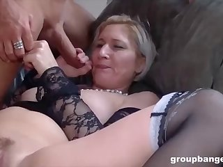 more gangbang action with teresa the horniest mature we met