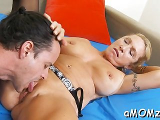 throbbing cock rams mature pussy